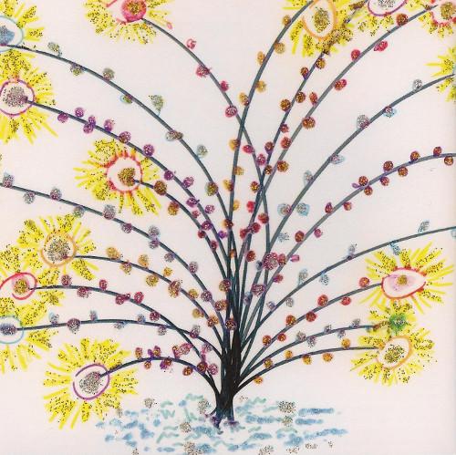 Peinture les soleils de la vie de Laurence VANAY