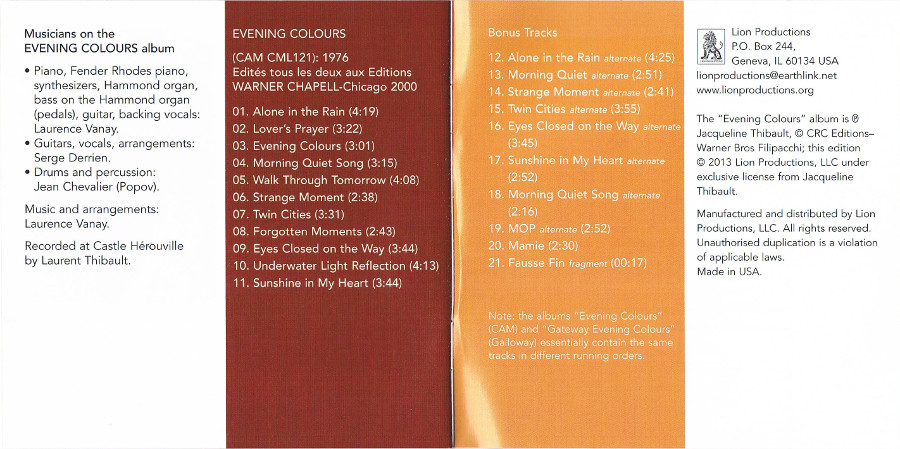Gateway Evening Colours Titre CD